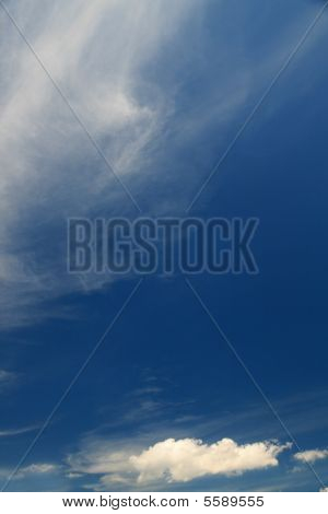 Blue Sky With Subtle Cloudsclouds