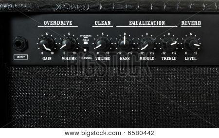 Guitar Amplifier Control Panel