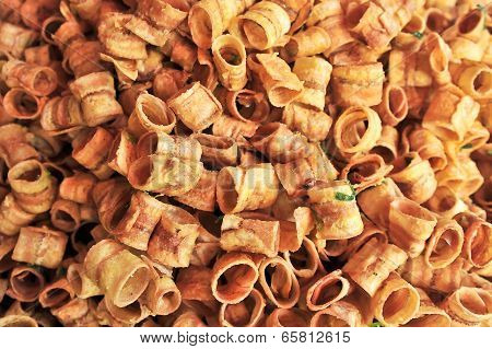 Thai Fried Dry Sweet Banana Snack Food