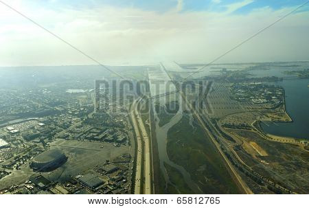 Aerial View Of San Diego River