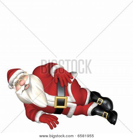 Santa Verlegung auf seiner Seite