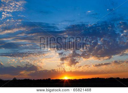 Midwestern Sunset Sky