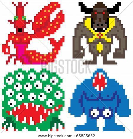 Worse Terror Horror Monster Eight Bit Pixel Art