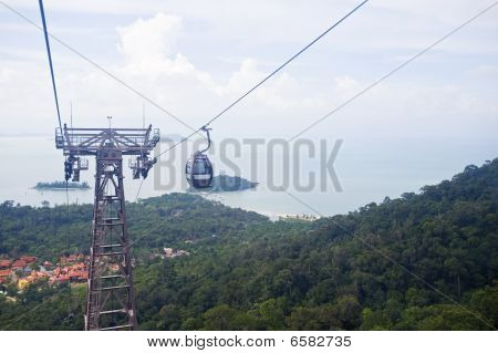 Aerial cable car of Langkawi Island