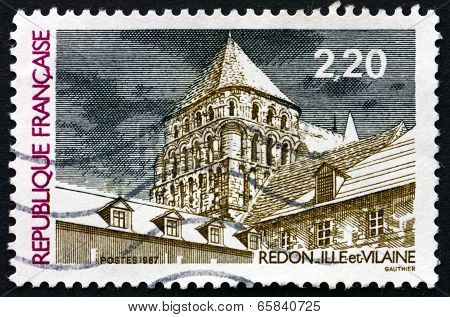 Postage Stamp France 1987 View Of Redon, Ille Et Vilaine
