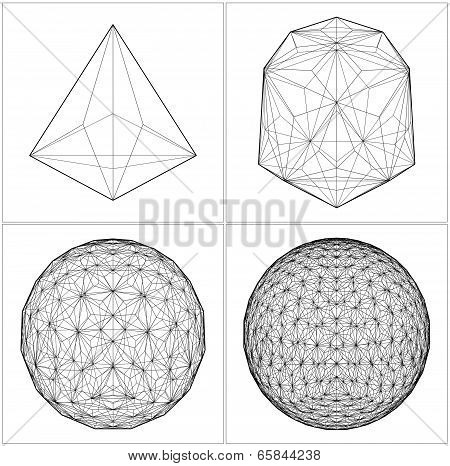 From Tetrahedron To The Ball ...