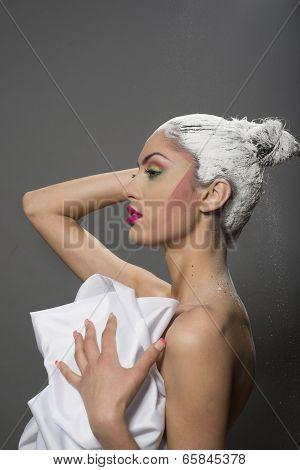 White Powder Hair