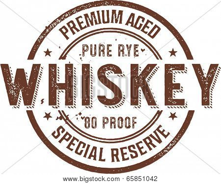 Premium Vintage Whiskey Alcohol Stamp