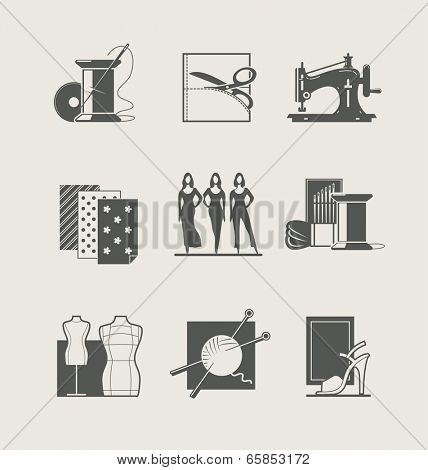 Sewing. Set of vector icons. Eps8 vector illustration