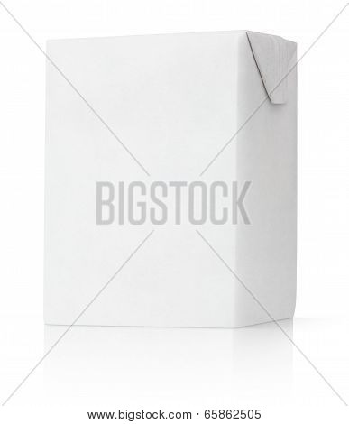 200 ml milk or juice carton package isolated on white poster