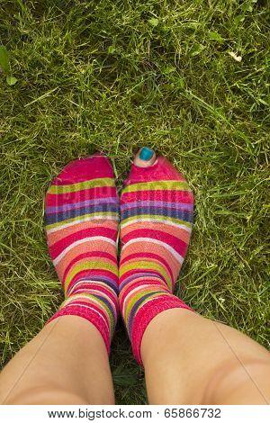Torn socks, funny feet