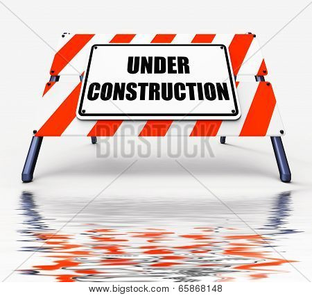 Under Construction Sign Displays Partially Insufficient Construct