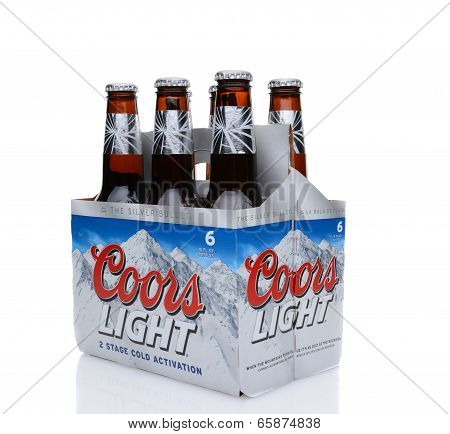 Coors Light Six Pack Side End View
