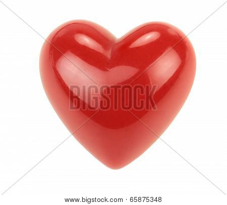 Red heart with reflections