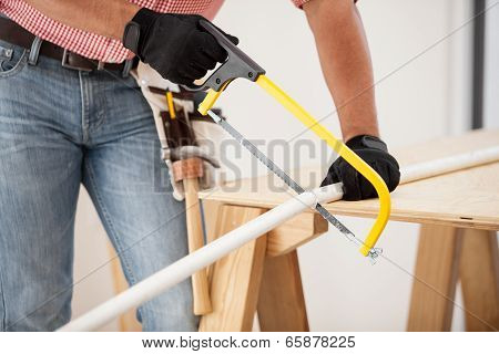 Cutting Pipes With A Hacksaw