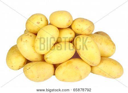 Heap Of Yellow Raw Potatos