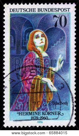Hermine Korner (1878-1960) As Lady Macbeth