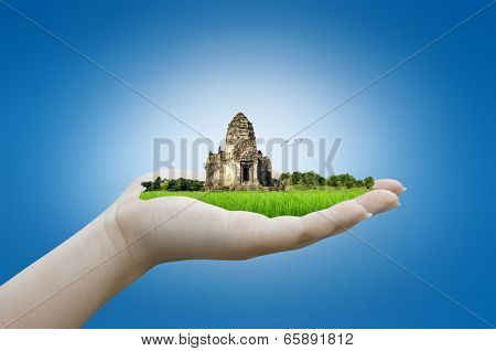 Hand Holding Historic Site