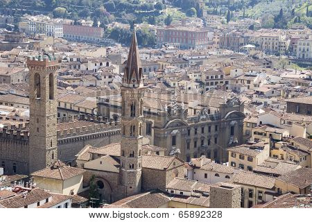View of Florence from the campanile Giotto poster