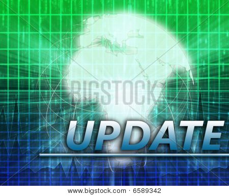 Africa Latest update news newsflash splash screen announcement illustration poster