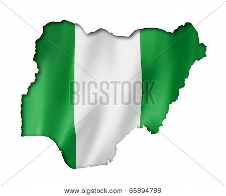 Nigerian Flag Map