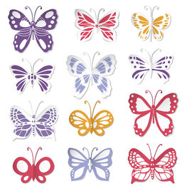 Set Of 12 Paper Butterflies