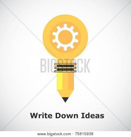 Idea Concept On Gradient Background