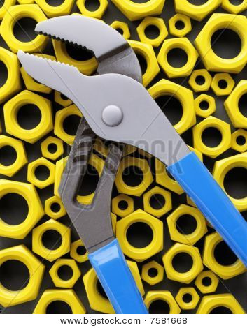 Blue Pliers, Yellow Nuts.