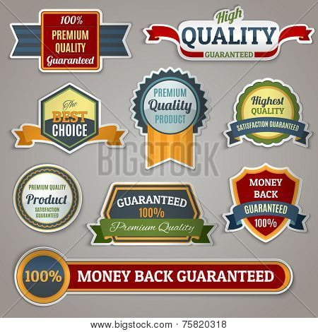 Quality labels stickers