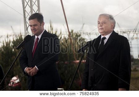 Adam Hofman, Spokesman Of Polish Opposition Law And Justice, With Jaroslaw Kaczynski