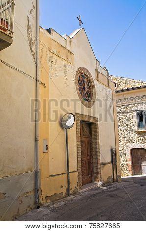 Church of St. Antonio. Genzano di Lucania.Italy.