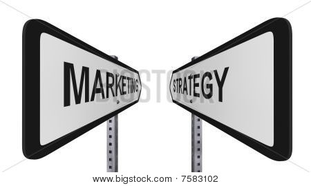 Stretched Marketing Strategy Signs