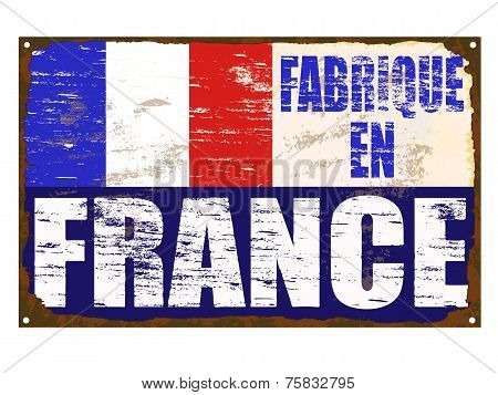 Fabrique En France Enamel Sign
