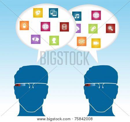 Social Media Smart Glasses Concept