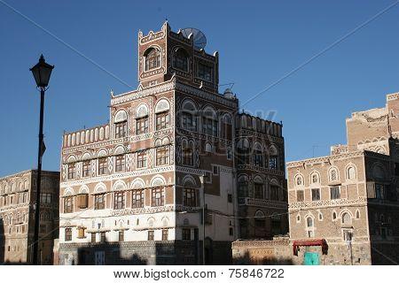 building in Sanaa, Yemen