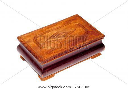 Antique brown box