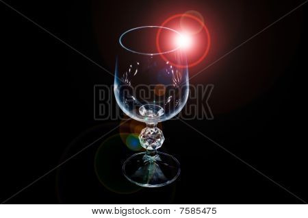Wineglass with flash
