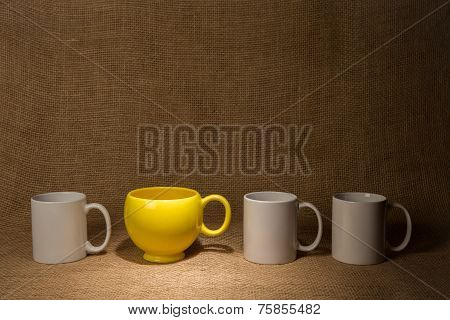 Coffee Mug Background - Spotlight On Yellow Mug