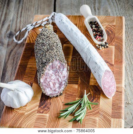 Saucisson And Spanish Salami