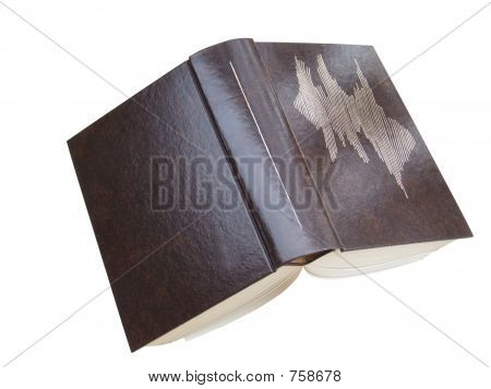 Open book with clipping path