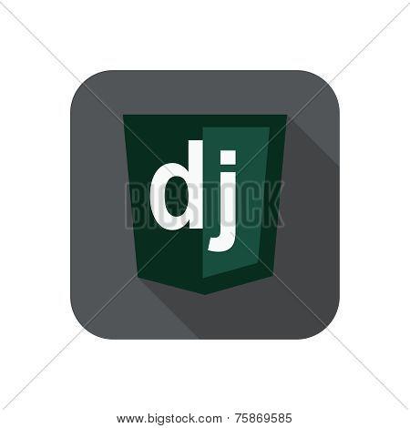 raster round icon of django python framework