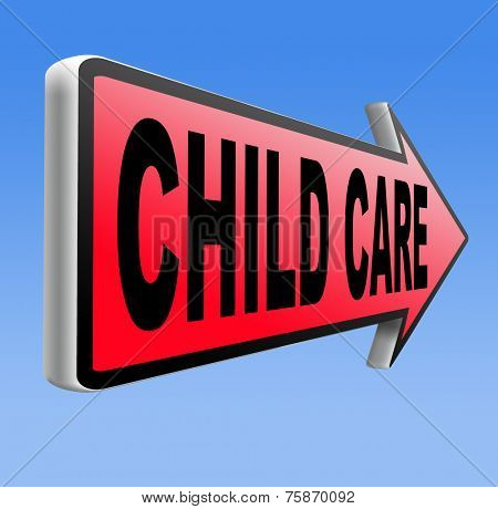 child care in daycare parenting or babysitting protection against child abuse