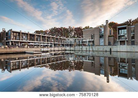 Historic Lake Anne Plaza in Reston Virginia