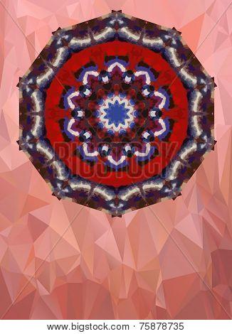 Aquarelle mandala ornament and a lot of copyspace poster