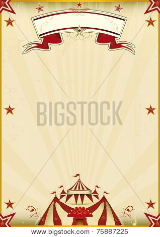 Fantastic brown circus vintage. A kraft circus poster for you new show. Enjoy !
