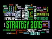 business strategy in 2015 concept word cloud poster