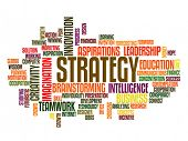 business strategy concept word cloud poster