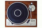 Stereo Turntable Vinyl Record Player Analog Retro Vintage Top View poster