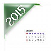 2015 October calendar poster