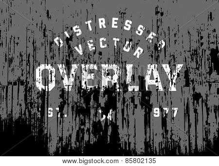 Vector distressed grunge and rust overlay. Place over any object to create distressed effect.